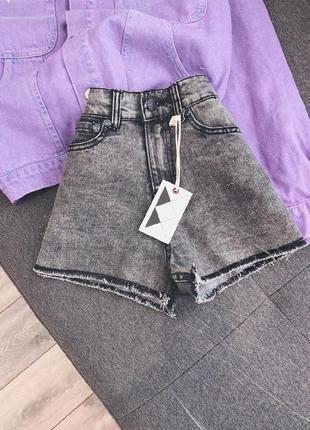 Джинсовые серые шорты