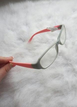 Имиджевые очки квадратные маленькие матовые розовые серые цвет...