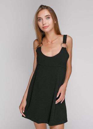 Черный плотный ромпер короткий шортами юбка обманка комбинезон...