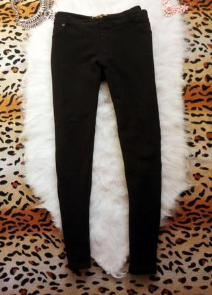 Черные плотные штаны леггинсы джеггинсы стрейч брюки узкачи go...