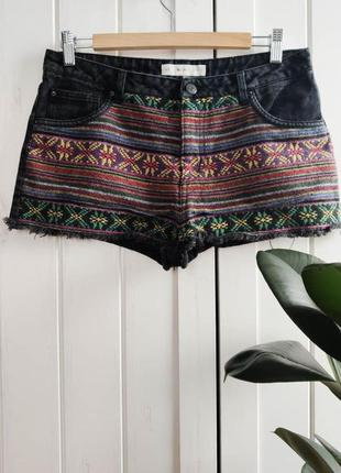 Шорты с вышивкой в этно-стиле, размер l-xl