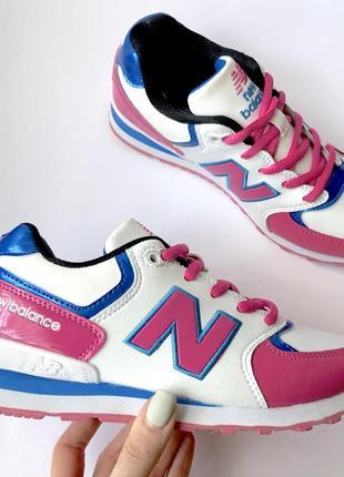 Кожаные кроссовки New Balance розовые нью баланс купить 36,39,40