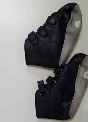 Фирменные теплые кожаные тапочки тапки