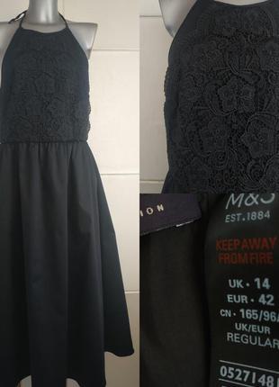 Нарядное платье-миди marks & spencer с кружевом.