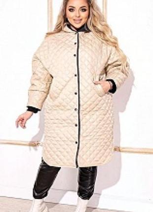 Пальто 334163 стёганная куртка