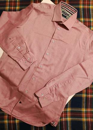 Рубашка в мелкую клеточку tommy hilfiger