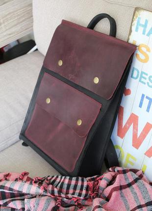 Рюкзак из натуральной кожи crazy horse. мужской рюкзак. женски...