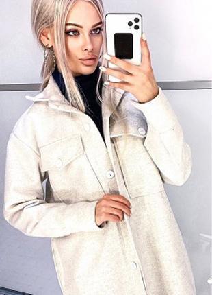 Пальто рубашка кашемир