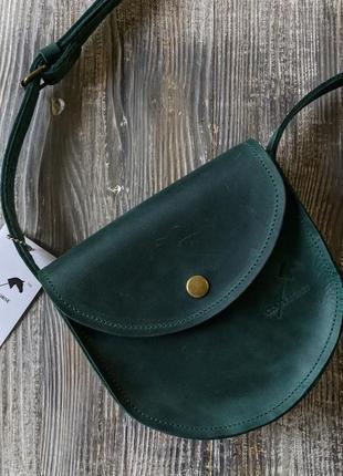 Чудесная сумка седло, минимального размера. натуральная кожа. ...