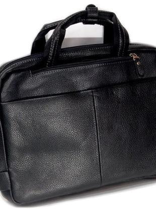 Мужской портфель чёрный Bolinni вместительная мужская сумка яду