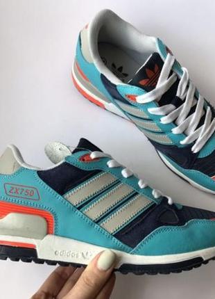 Распродажа кроссовки Adidas ZX 750 бирюзовые женские адидас 39,40