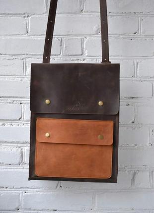 Рюкзак трансформер из натуральной кожи crazy horse. натуральна...