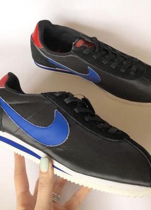 Кроссовки Nike Cortez Черные нейлон замша найк распродажа 43р