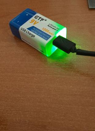 Крона 9v ,1000 mAh, Li-ion аккумулятор