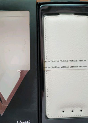 Кожаный чехол Vetti Craft HTC One Mini M4 white