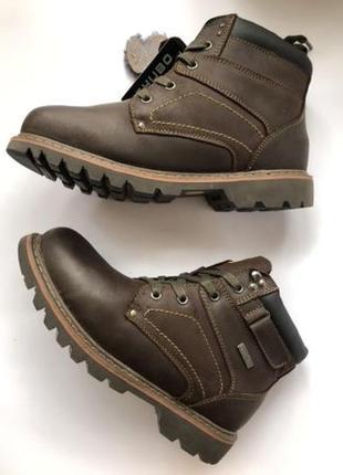 Зимние ботинки мужские нубук цигейка 41р распродажа
