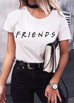 Женская футболка с принтом friends