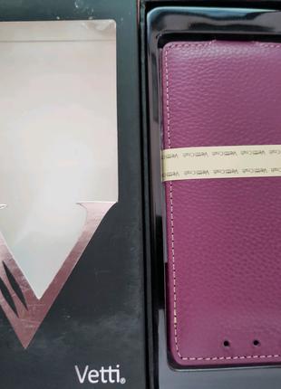 Кожаный чехол Vetti Craft HTC One mini M4-Purple