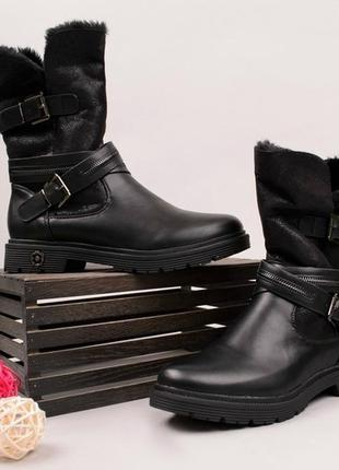 Зимние ботинки на низком ходу