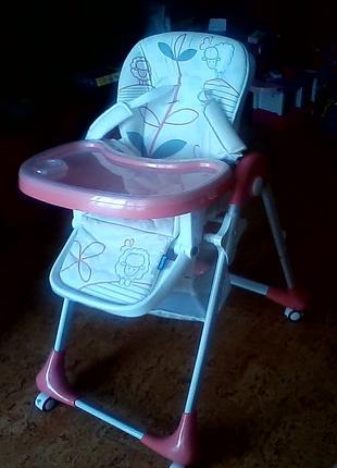 Детский стульчик для кормления Bambi (M 3233) складной как новый