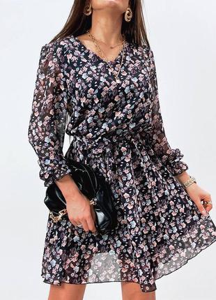 Нежное платье, р. s,m,l,xl, турецкий шифон+трикотажная подклад...