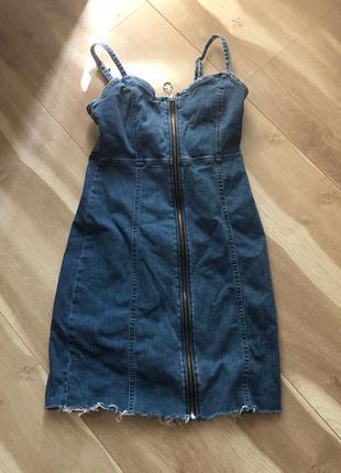 Джинсова сукня в обтяжку ,розміру XS