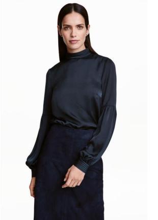 Сатиновая блуза с широким рукавом 32,40