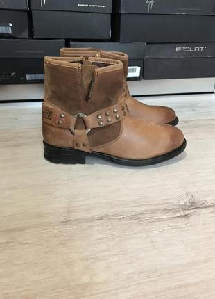 Коричневые ботинки dockers кожа утеплены оригинал