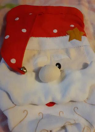 Чехол на крышку унитаза новогодний