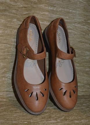 Стильные качественные туфли clarks griffin marni 5 1/2 e р.