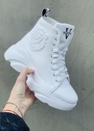 Крутые женские зимние ботинки {натуральная кожа}
