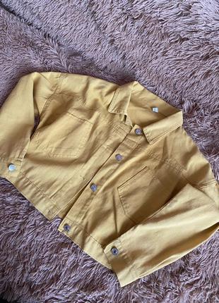 Желтая джинсовая