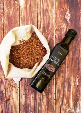 Олія лляна, сыродавленное льняное масло холодного отжима