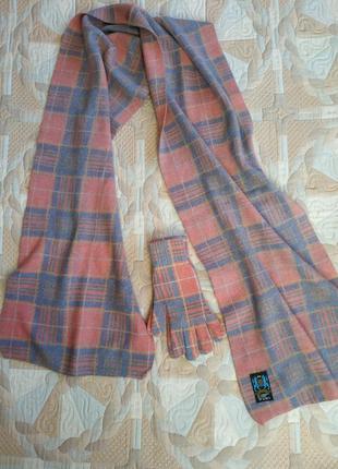 Шарф + перчатки (овечья шерсть, ангора, нейлон)