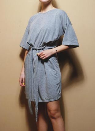 Только до 30/11! красивейшее платье – футболка с поясом на талии