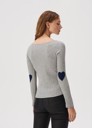 Новая длинная облегающая серая кофта блузка лонгслив польша на...