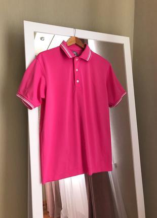 Поло розового цвета athletic fit атлетик фит