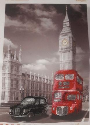 Вышивка бисером Лондон подарок картина handmade