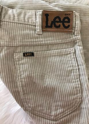 Бежевые вельветовые джинсы Lee 🌷🌷🌷