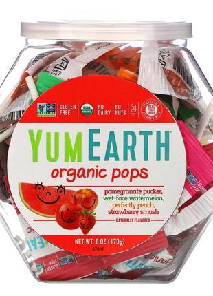 YumEarth, органические леденцы на палочке, 170 г