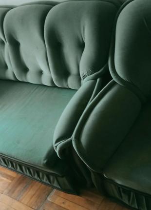 Раскладной диван+ 2 кресла+ стенка/шкаф/бар