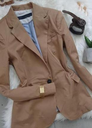 Базовый актуальный приталенный пиджак цвет кемел №8max