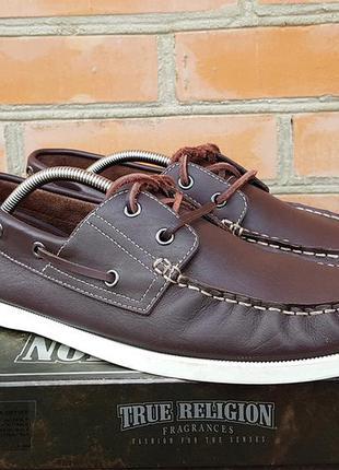 Marks & spencer boat shoes топсайдеры туфли кожаные оригинал (44)