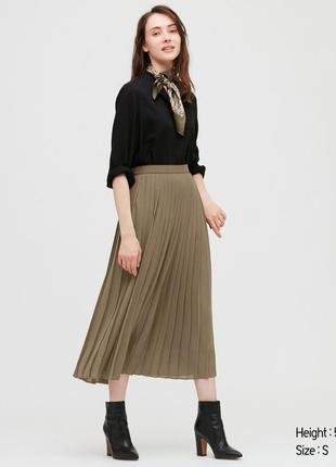 Плиссированная юбка uniqlo