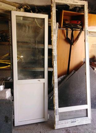 Балконный блок (Глух окно) Rehau б/у 2-х камерное