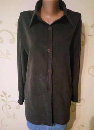 Vero moda рубашка блузка оверсайз . ткань под замшу