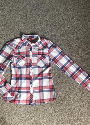 Рубашка в клетку. жіноча сорочка.