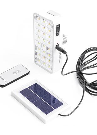 Фонарь лампа Luxury 9817T, 24SMD, солнечная батарея, ЗУ 220V
