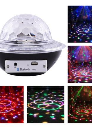 Лазер диско CY-6740 UFO Bluetooth crystal magic ball, 220V, пульт