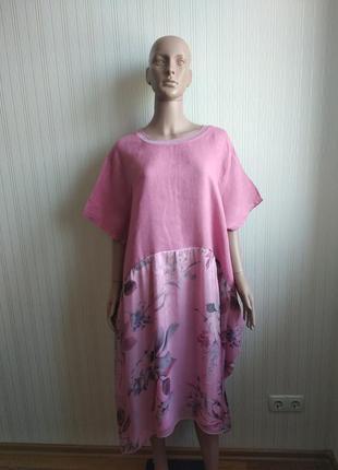Платье италия в составе шелк и лен раз xxl-xxxl
